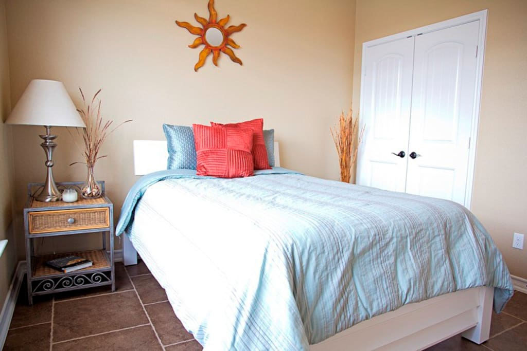 Very nice, bright room with full size bed.