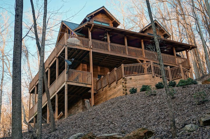 Secluded Log Cabin W/ Great Views - Jasper - Hus
