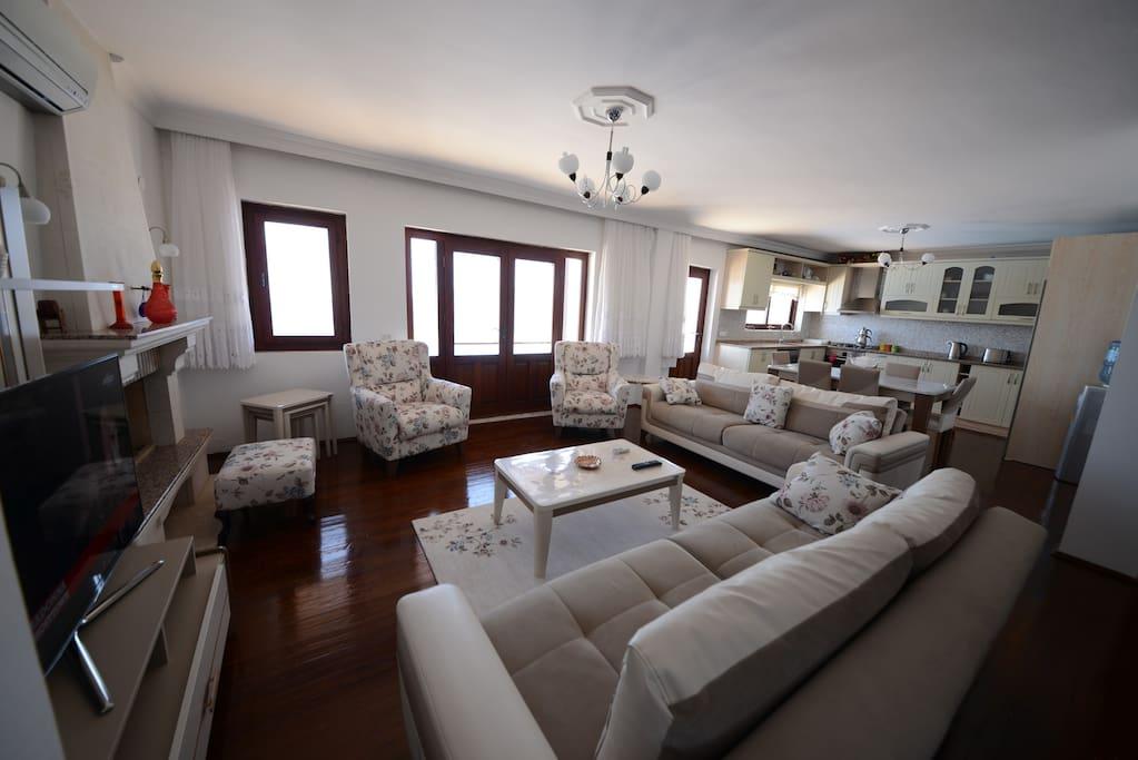 Nice, big and  comfortable living room and kitchen