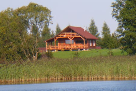 Spacious Cottage on the lake Mazury