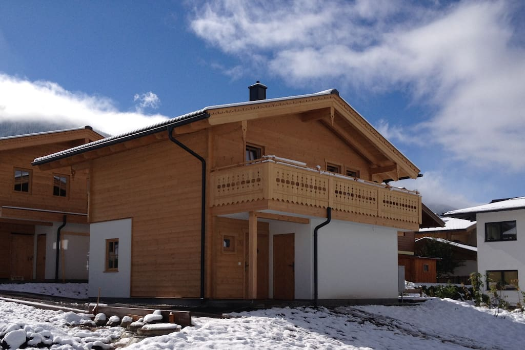 The front of the chalet
