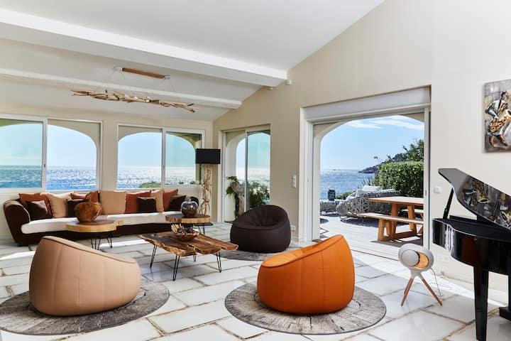 Pieds dans l'eau, villa de luxe  4 chambres