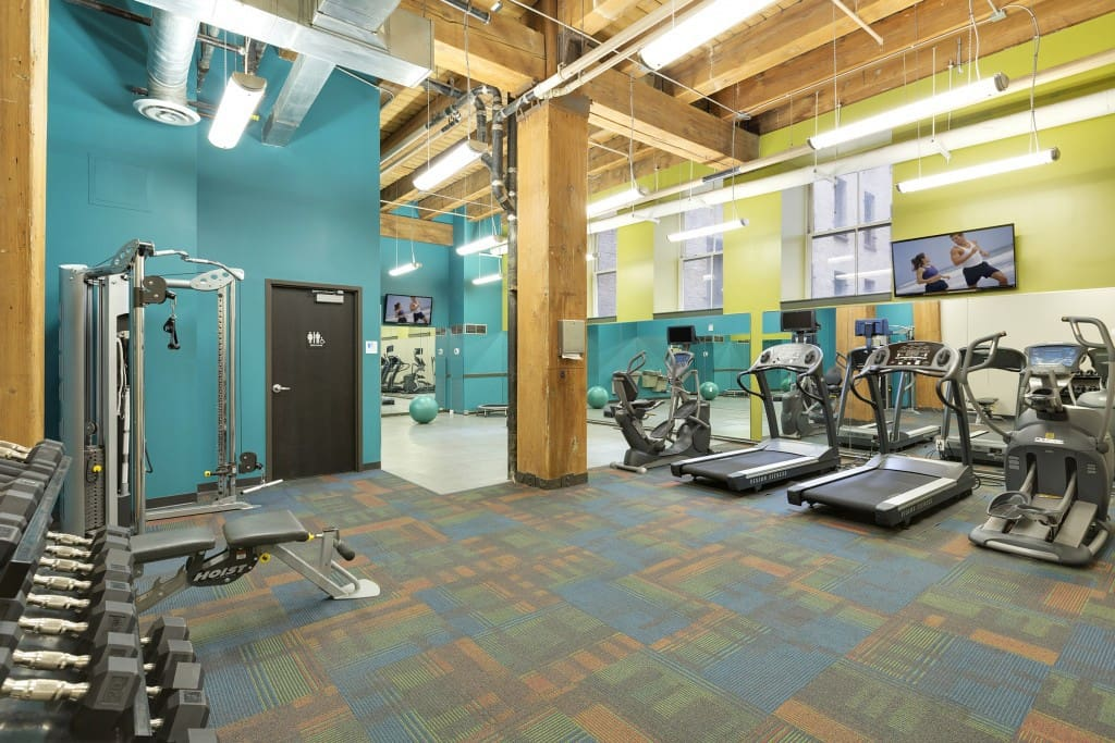 Gym available on first floor