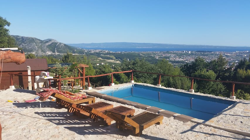 Summer Paradise with pool in hill