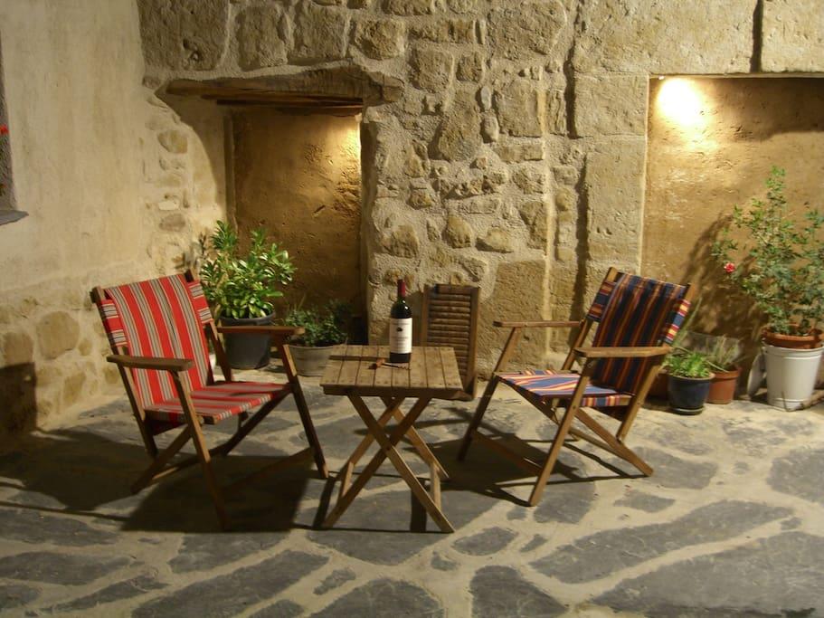 Corner of patio
