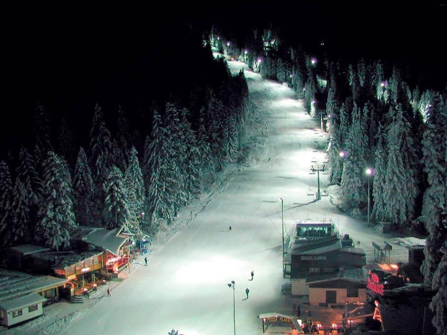 One of the ski slopes  in Borovets.