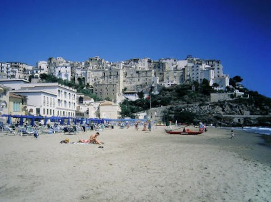 this beach is only a 3 minutes stroll away, The old town from the North beach