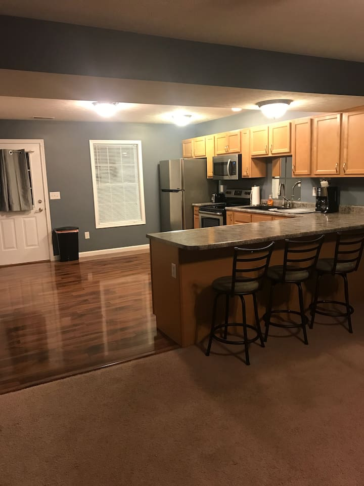 Master Kitchen with Stainless Steel Appliances