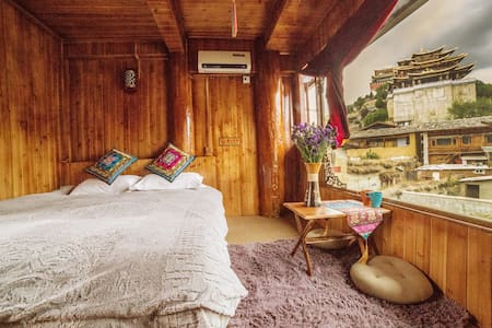 Tibetan Woody Double Room with View - 香格里拉