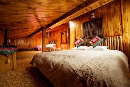 Tibetan Woody Family Room on attic