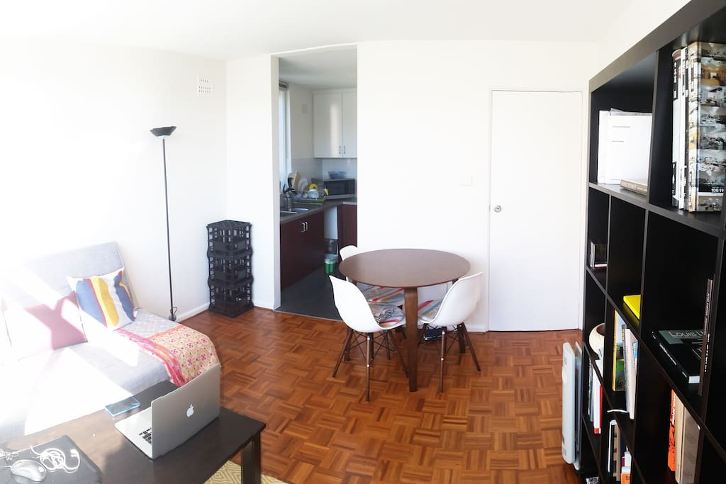 sunny living and dining room