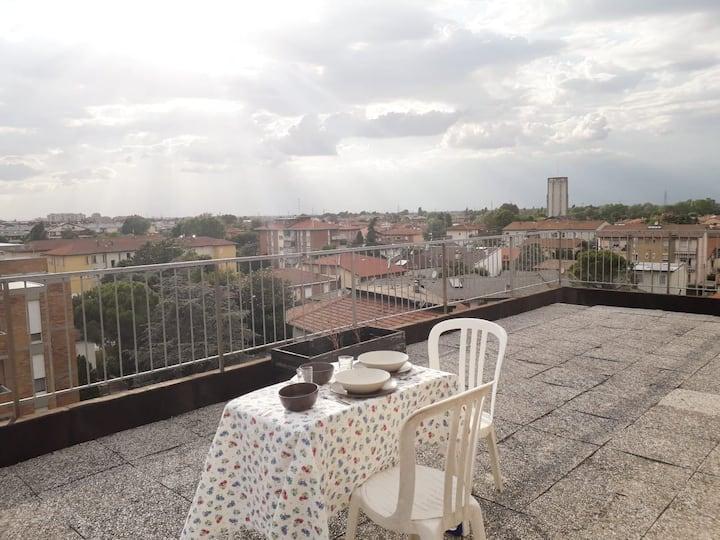 Amazing rooftop of Ravenna skyline!