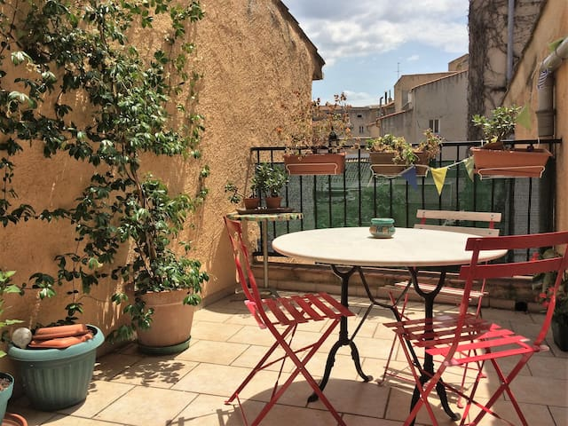 Terrasse au cœur du vieil Aix, Clim (A/C) & wifi