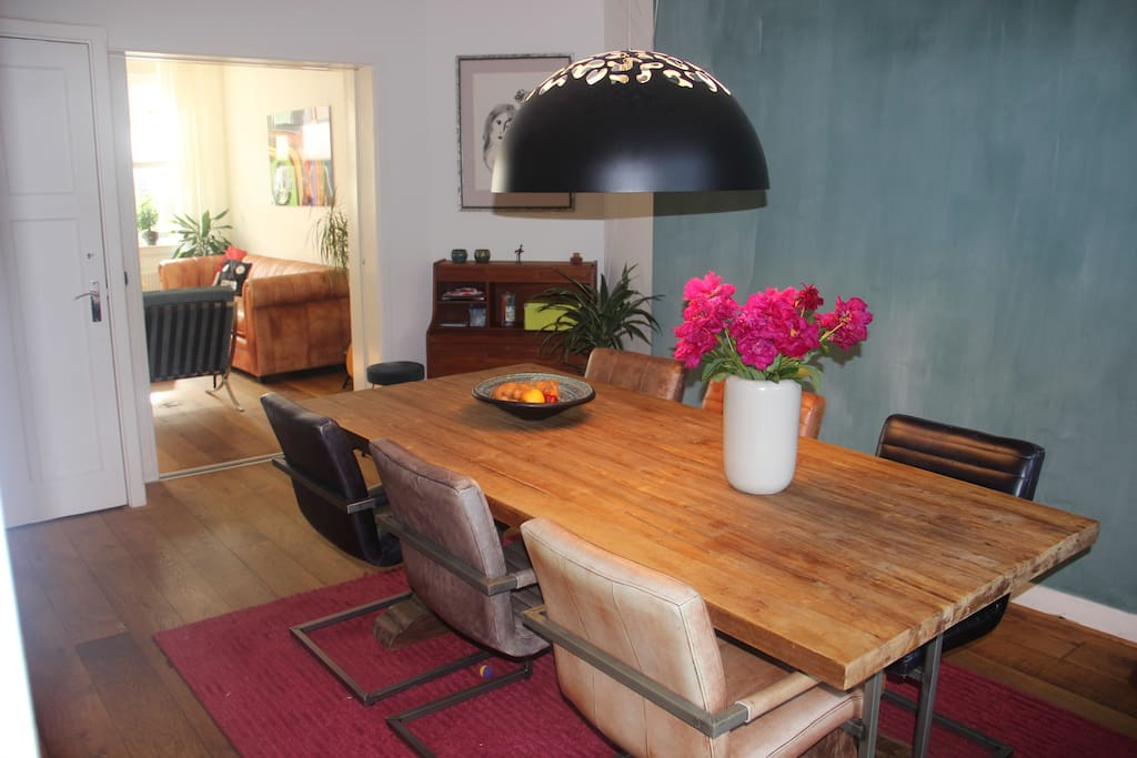 Dining room with acces to the garden