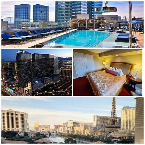Great condo next to Bellagio & Cosmo w/ pool & spa