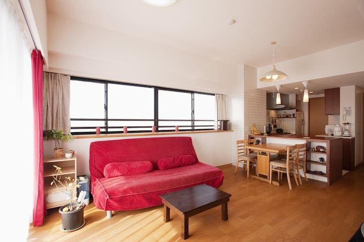 Near Shinjuku 3BR/75 sqm/WiFi, TV/Big, Bright Apt - Nakano - Wohnung