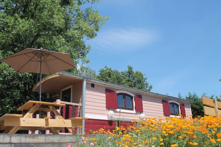 Roulotte confort&calme à 8' du lac - Prunières
