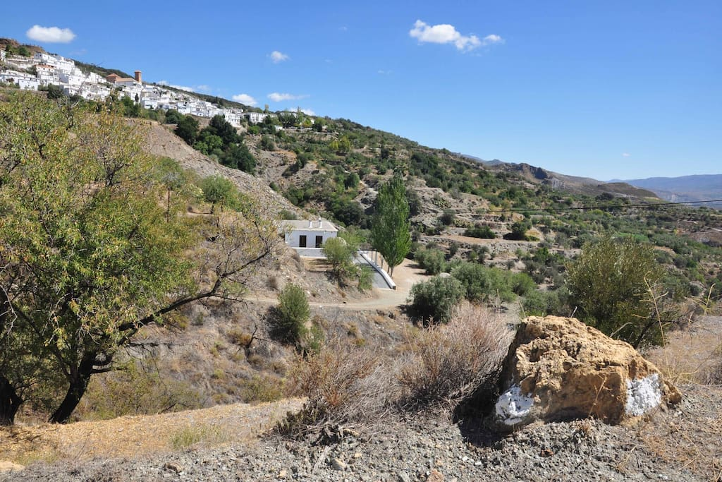 View of Cortijo El Ejido with village of Mairena in the background.