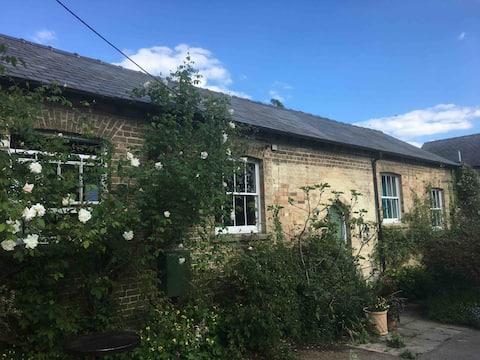 Victorian School nr Ely - countryside & Fen skies