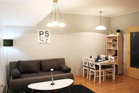A PS Studió a belvárosban, a tótól 390 m-re van.
