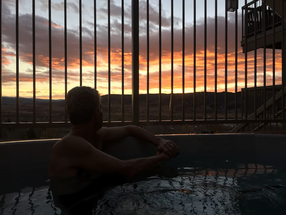 Enjoy this epic view from the hot tub