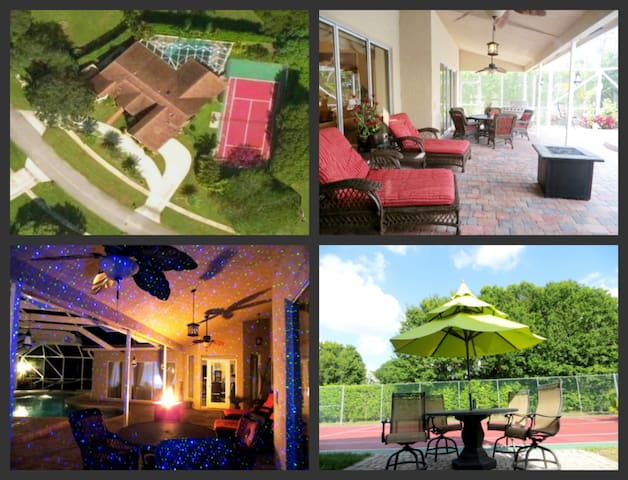 Tuscan Luxury 5BR Tennis Spa Pool! - Wellington - Huis