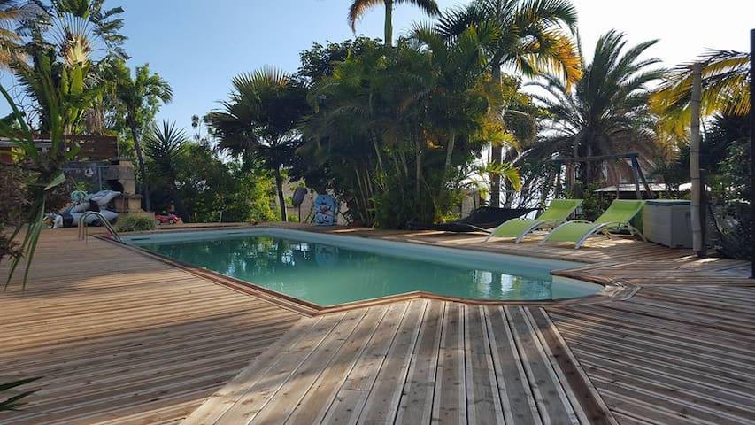 bungalow meublée accès piscine - Piton Saint-Leu - Pis