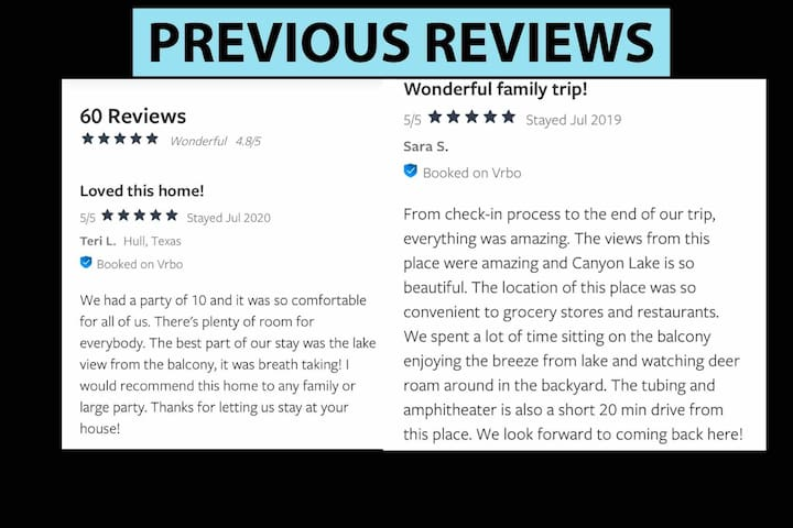 Ton of Amazing Reviews as you can see - we can't wait to host you soon!