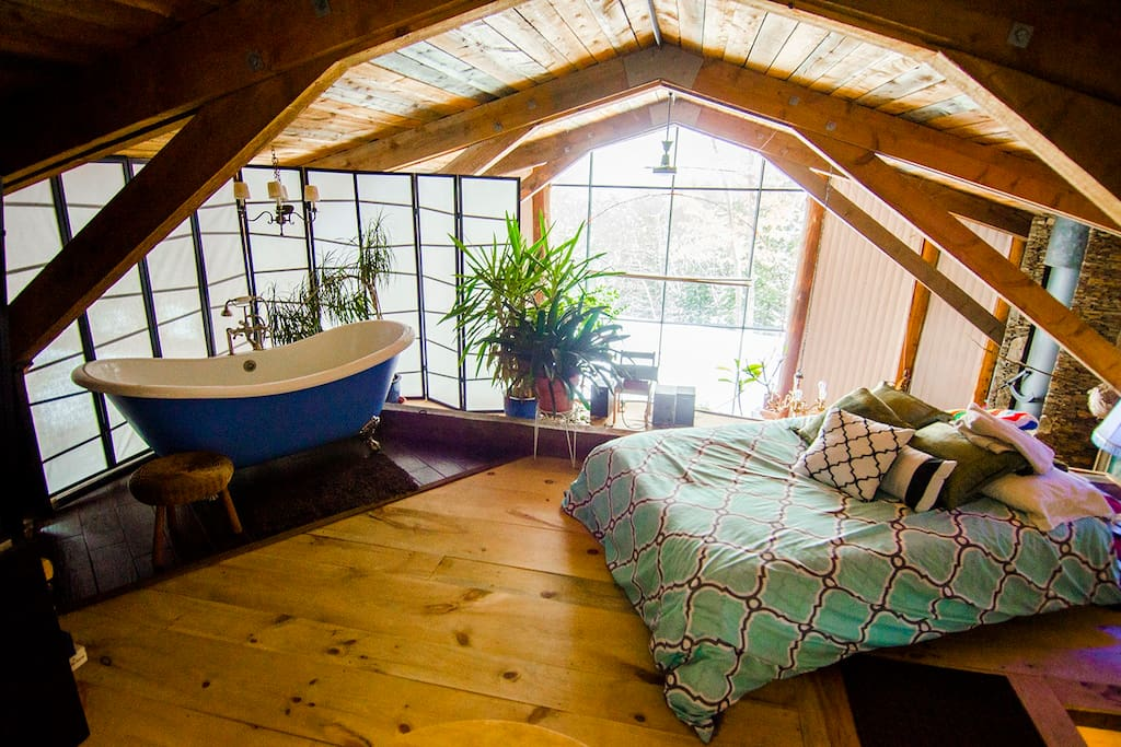A day bed, on the loft, for relaxing, or can sleep two additional guests.