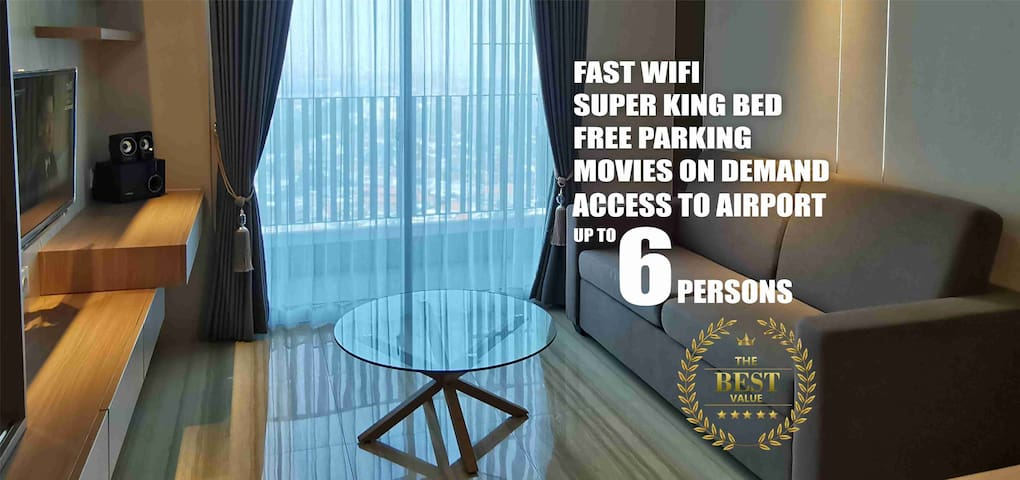 Super King Bed with FREE WIFI  - Family Friendly