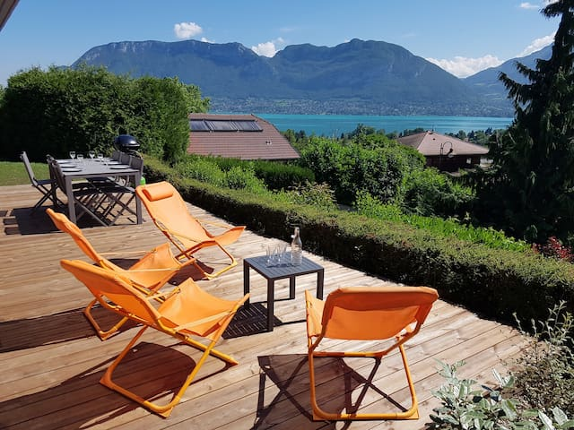 NEW flat 4* with terrace, garden & great LAKE view