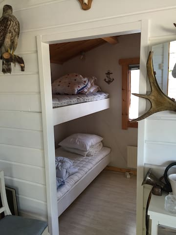 Hunting cabin and the small twin  ( Bunk beds).