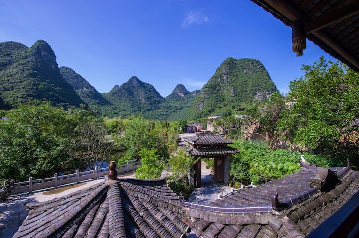 Scenic Mountain Retreat General's twin room - Guilin - Villa