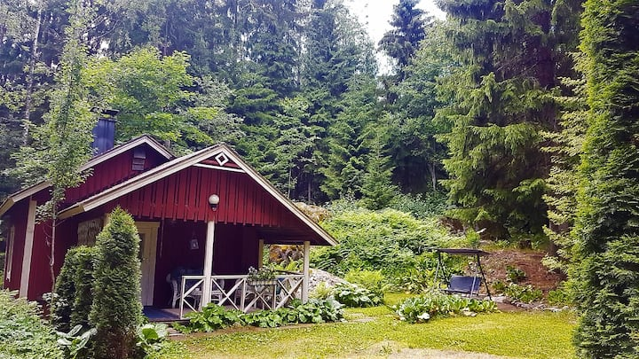 Cozy cottage by the lake (Mökki 1).