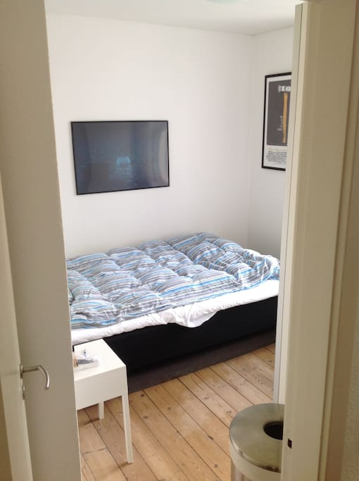 Bedroom. The bed can be divided into two beds if top mattress is removed