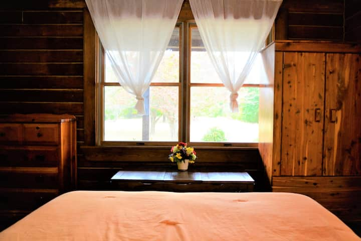 Tranquil Country Log Cabin (The Gold Room)