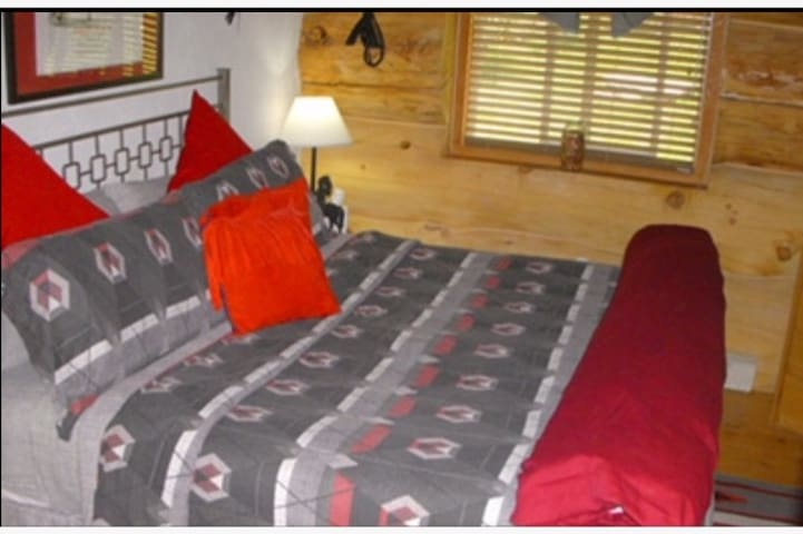 MAIN FLOOR - KING BED ROOM - TV,  Dresser, Closet/Robes,Chairs,Native Indian Decor