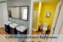 Fully renovated new bathrooms