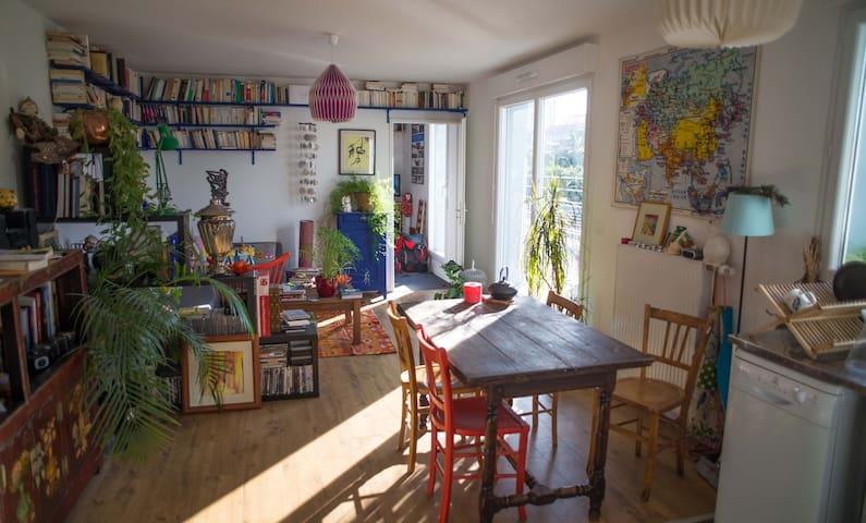 Beautiful flat 2 bedrooms, terrace - Ivry-sur-Seine - Apartamento