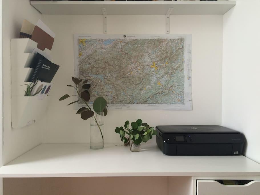 Little office in the bedroom