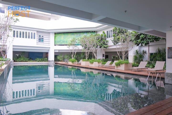 OKR #7 100MbpsWifi Luxurious 2BR Midvalley Gardens