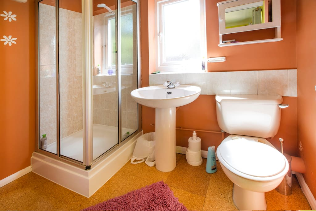 En-suite with toilet, shower and wash hand basin