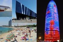 A 7 minutos de la playa y cerca de múltiples museos y monumentos a poca distancia.