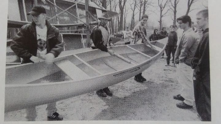 Learning to lift canoe to portage