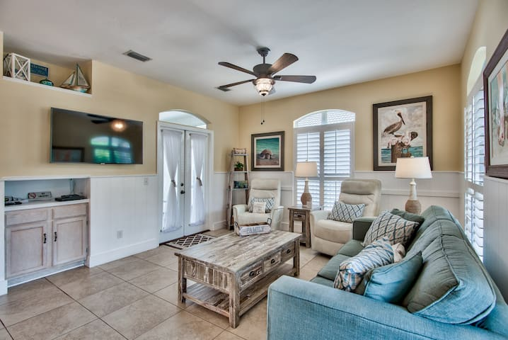 Family room - large flat screen and furniture upgrade 2020