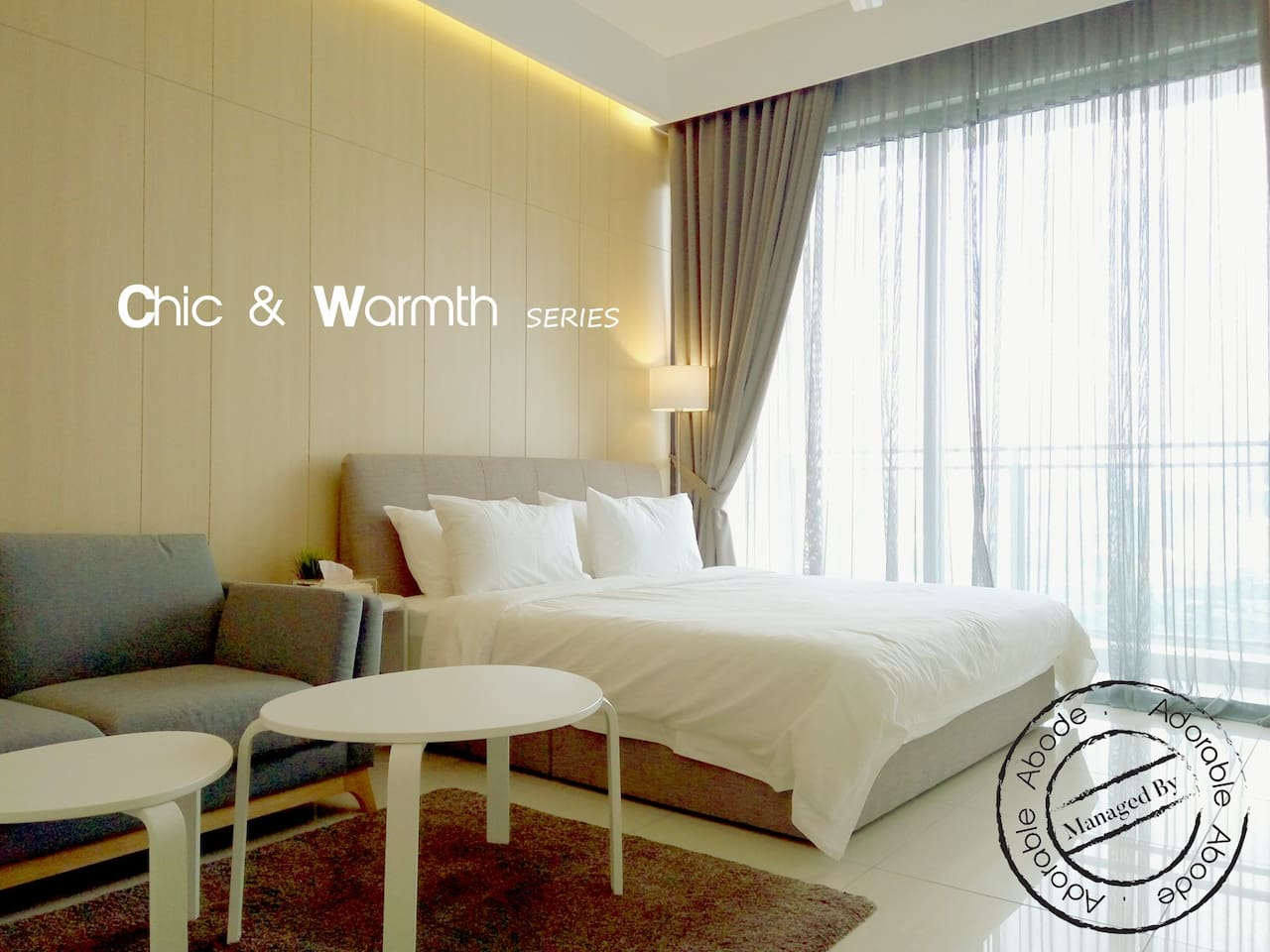 Warm, Chic & Cozy Studio with great city view