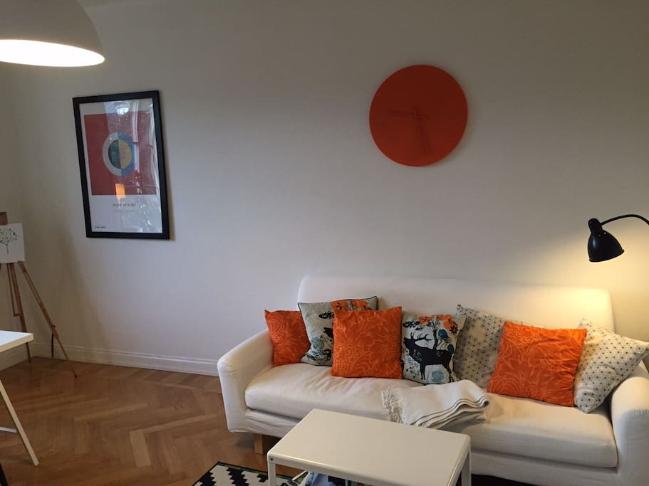 The sitting area in the living room