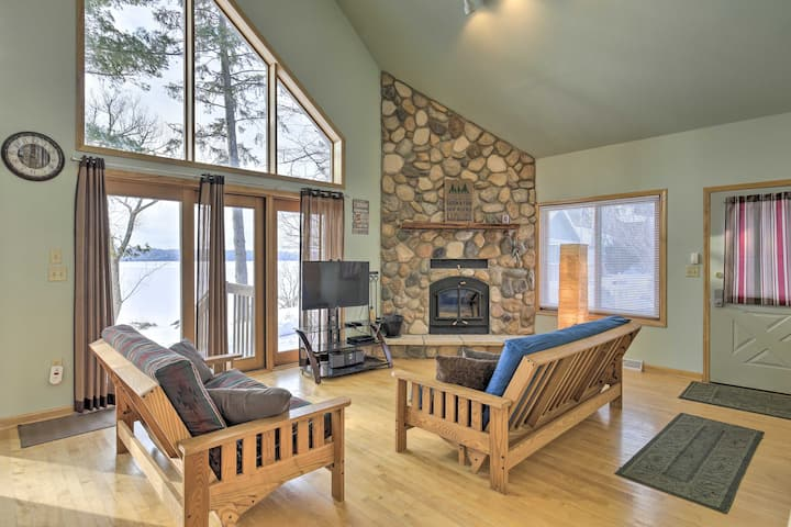 Eagle River House on Dam Lake w/Pontoon Rental