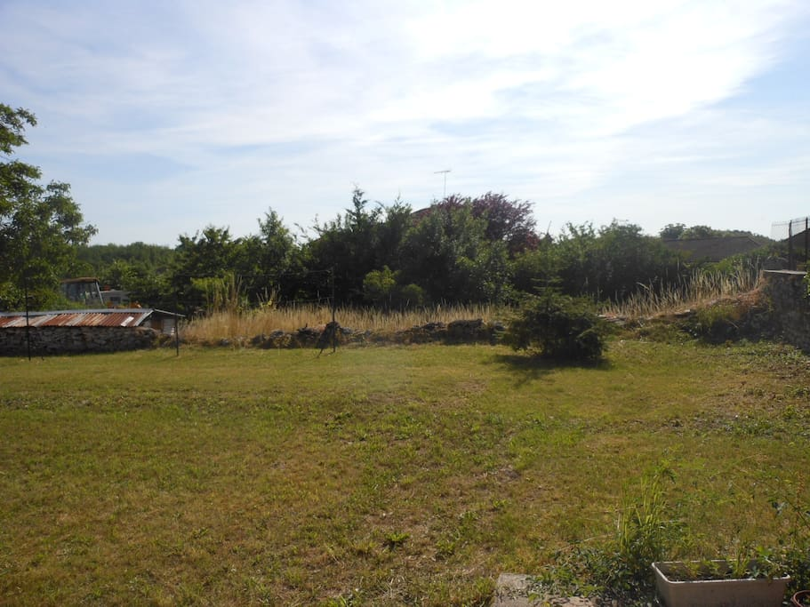 jardin vu de la maison