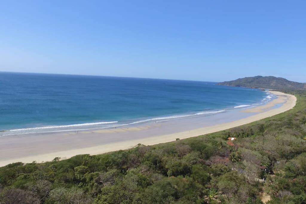 Playa Grande from Sky high view
